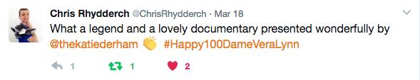 Dame Vera Lynn Tweet Captive Minds